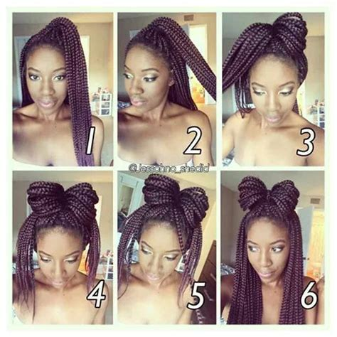 hairstyles for box braids step by step pictures best 25 box braid styles ideas on pinterest box braids