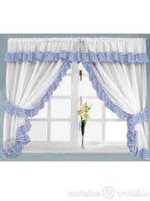 Kitchen Curtains Blue Gingham Check Blue White Kitchen Curtain Curtains Uk