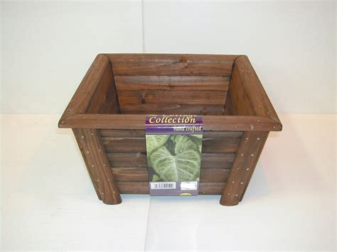 Square Wooden Planters by York Garden Centre No Retail Outlet Wooden Square Flower