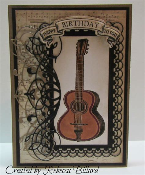guitar birthday card template from the rock crafty corner guitar birthday card