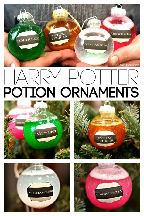 christmas gifts for harry potter fans diy harry potter potions ornaments harry potter potions