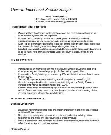 functional resume format pdf 9 functional resume exles sle templates