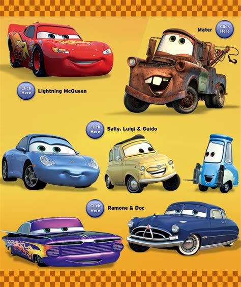 cars characters yellow disney cars 2 type cars