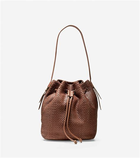 Cole Haan Laser Cut Hobo by Cole Haan Bethany Weave Drawstring Hobo In Brown Lyst