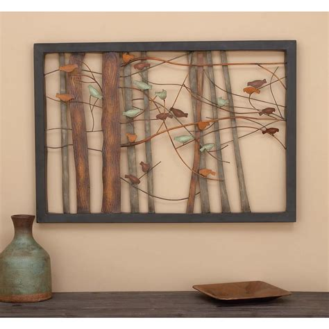 Home Depot Wall Decor by 27 In X 39 In Birds In Trees Iron Wall Decor 93744 The