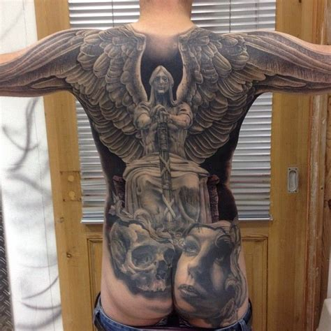 andy farley back tattoo video 25 best ideas about angel back tattoo on pinterest