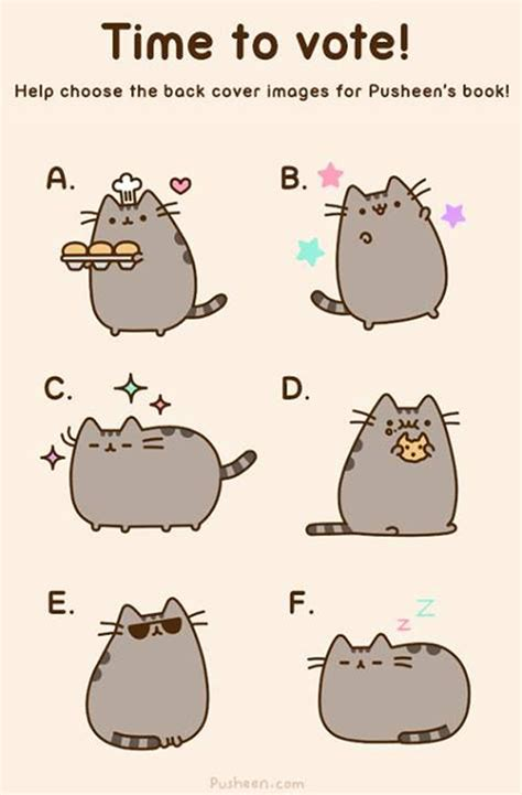 Pusheen Cat Meme - hardest decision ever which of these pics should pusheen