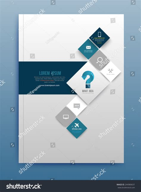 brochure cover layout ideas vector brochure design template flyer layout stock vector