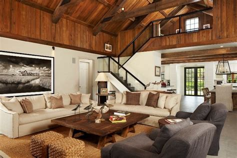 decoration modern rustic cabin decor with barn modern rustic modern cabin rustic family room atlanta by