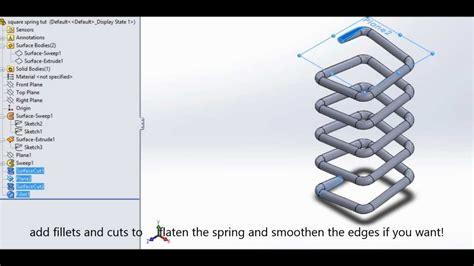 tutorial upi spai square spring tutorial solidworks 2013 hd doovi