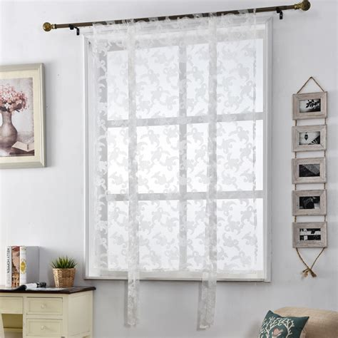 short door curtains jacquard kitchen blinds curtains window sheer roman home
