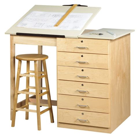 shain dt 8a large drawing table with drawers schoolsin