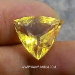 Batu Yellow Citrine batu permata yellow citrine kode 327 wahyu mulia