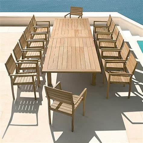 Modern Patio Table Apex Extending Outdoor Dining Table Patio Furniture Contemporary Outdoor Dining Tables