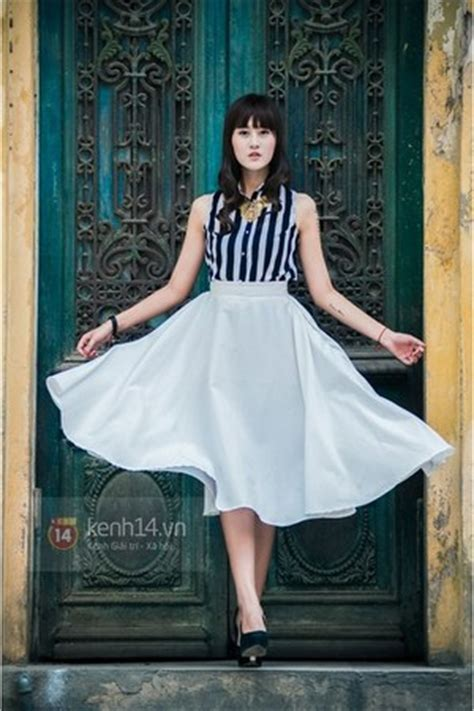 18046 Skirt Blackwhite white skirts black shoes black tops quot fly quot by anhphuong chictopia