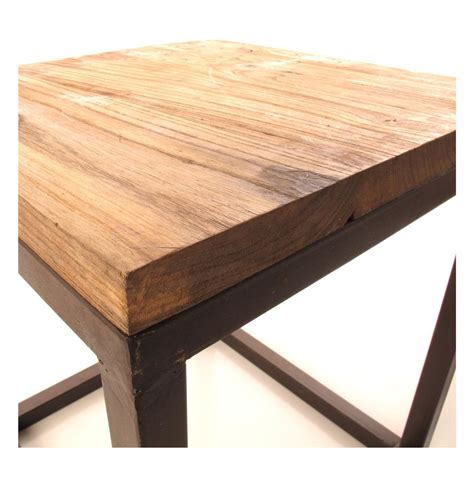 solid chunky reclaimed elm wood large coffee table kathy