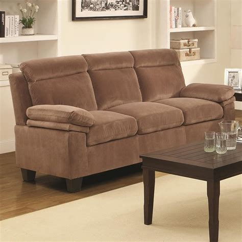 Brown Fabric Sofas coaster jovana 503714 brown fabric sofa a sofa