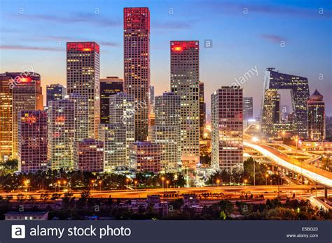 Beijing International Mba At Peking by Beijing China Skyline At The Central Business District