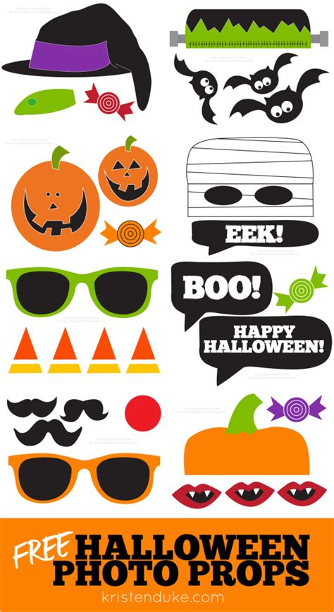 Printable Photo Booth Props For Halloween | halloween photo booth free printable props capturing joy
