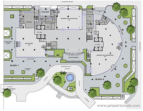 site floor plan unitech global business park m g road gurgaon commercial project propertywala