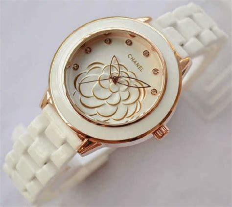 Jam Tangan Wanita Gucci Keramik Ring Rosegold chanel flower seramik ready 2 warna pelita