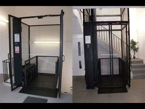 basement elevator basement mezz lift below ground goods lift underground goods lift youtube
