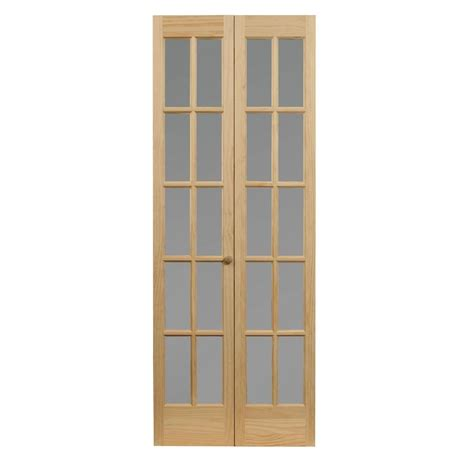48 Bi Fold Closet Doors 48 In X 80 In Woodgrain Flush Unfinished Hardwood Interior Closet Bi Fold Door 138265 The