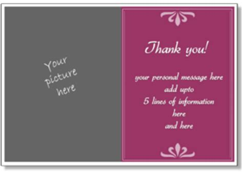 powerpoint thank you card template personalized thank you card print a thank you greeting