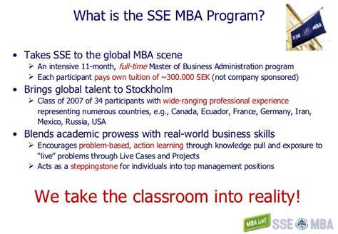 Mba Programs Without Work Experience Canada by Sse Mba Mba Live