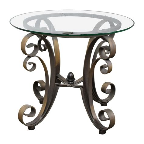 rooms to go side tables 90 rooms to go rooms to go bronze metal base with
