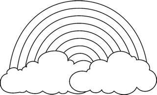 cloud coloring pages rainbow and cloud coloring pages