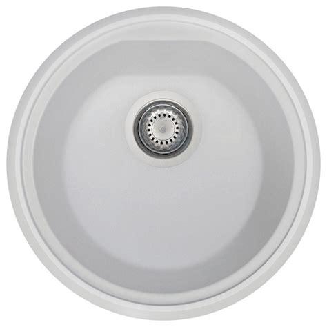 round kitchen sinks 17 quot undermount round granite composite kitchen prep sink