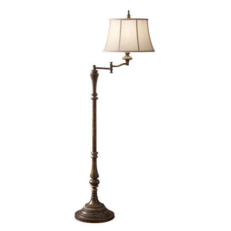 standard l with reading light traditional dark antique standard l with swivel head