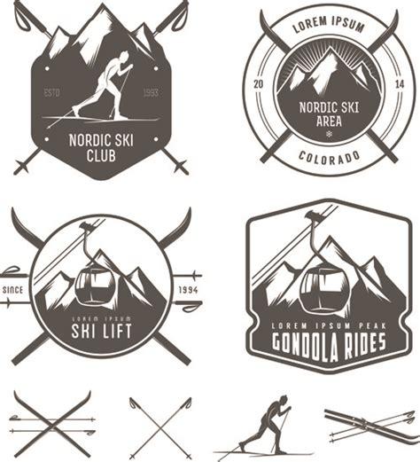 emblem vector retro labels and emblems set vector free vector in