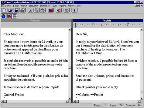 Exemple De Lettre Commerciale En Anglais Exemple Lettre Commerciale Anglais