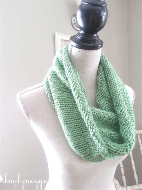 knitting pattern spring scarf spring knit infinity scarf simplymaggie com