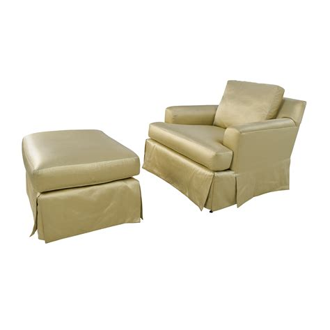 matching chair and ottoman 90 off abc carpet and home abc carpet home gold sofa