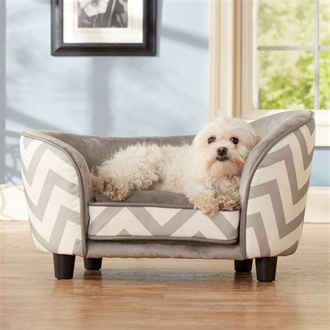 enchanted home pet snuggle bed gray chevron dog beds