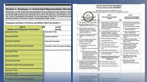 i 9 section 2 video form i 9 employment eligibility verification