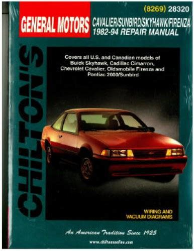 car manuals free online 1994 chevrolet cavalier lane departure warning chilton gm cavalier skyhawk sunbird firenza 1982 1994 repair manual