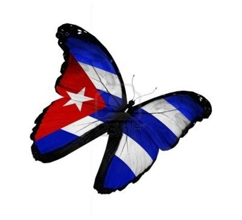 cuban flag tattoo cuba libre cuban flag in the form of a butterfly cuba
