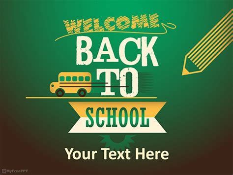 First Day Of School Powerpoint Template A Media Back To School Ppt