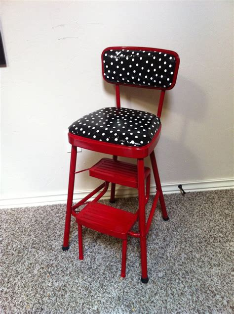 Kitchen Step Stool Chair Kitchen Redo On Retro Kitchen Step Stool Chair In And Black