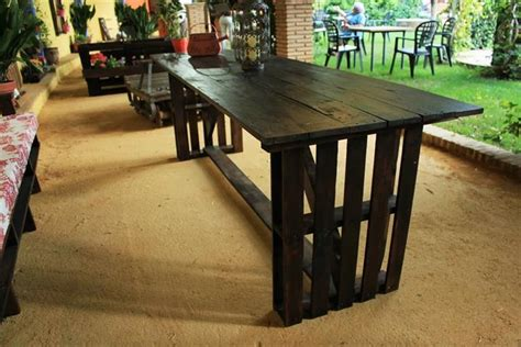 Dining Table Made From Pallets Recycled Pallet Dining Tables Pallet Wood Projects