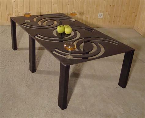 tole table table basse metal decoupe laser ezooq