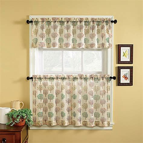 Buy Orchard 36 Inch Window Curtain Tier Pair From Bed Bath 36 Kitchen Curtains