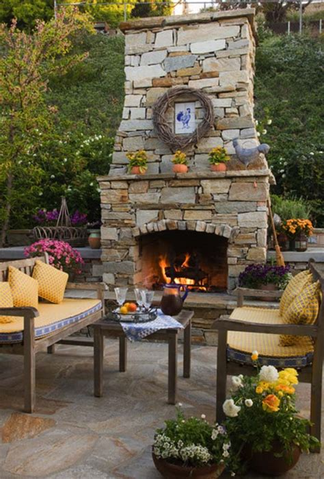the backyard place 53 most amazing outdoor fireplace designs
