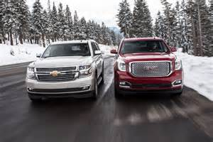 driving the new 2015 gmc yukon and chevy tahoe suburban suvs