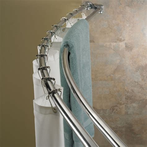 double bar curtain rod how to place a shower curtain rods the homy design