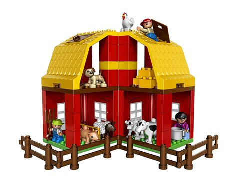 lego farm house and lego barn lego duplo legoville big farm 5649